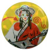 Culture Club - 'George Guitar' Prismatic Button Badge